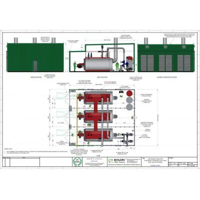 Custom-Built Insulated Plantroom Plan and Elevations
